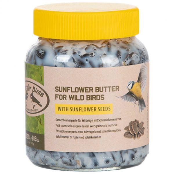 Esschert Design Erdnussbutter mit Sonnenblumensamen 250g, Vogelfutter für Erdnussbutterhaus, FB271