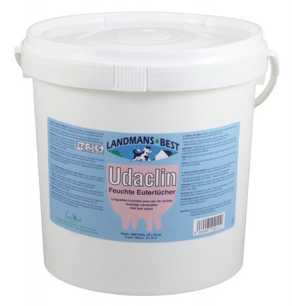 Udaclin® Feuchte Eutertücher, 1000 Blatt, Spendereimer, zur Euter- und Zitzenreinigung