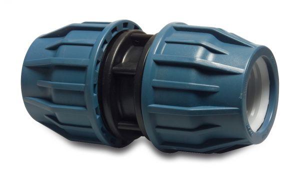 PP Klemmkupplung, gerade, 20x20mm, PP-Kupplung