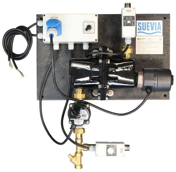 Suevia Heizgerät Mod. 317 (3000W, 230V) mit Rücklauftemperatur-Steuerung - 101.0317