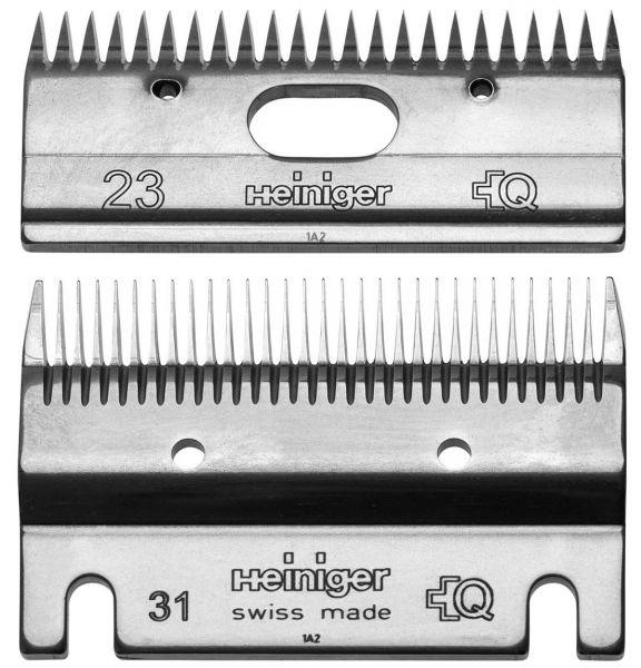 Heiniger Schermessersatz 31/23 Zähne, Standard Schermesser für Pferde