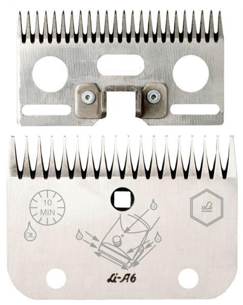 Lister Schermessersatz LI A6 mit 24+18 Zähnen, für saubere und leicht verschmutzte Rinder