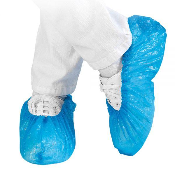 100x HYGOSTAR® Einweg-Überziehschuhe Standard, Blau, zur Vermeidung von Verunreinigungen