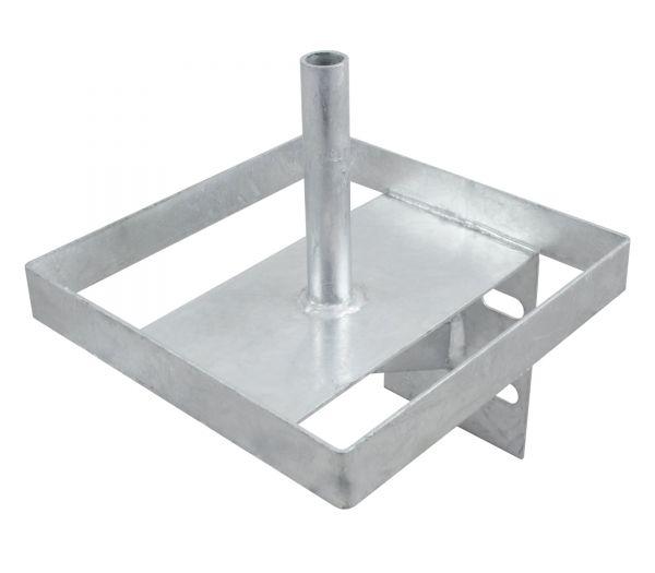 Lecksteinhalter, Metall, verzinkt, Halter für Salzlecksteine
