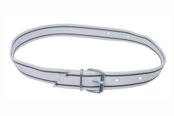 Halsmarkierungsband 120cm, weiß, mit Rollschnalle, Nummern-Halsband für Rinder und Kühe