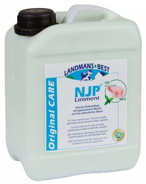 Original NJP® Liniment 2,5 Liter, effektive Euterpflege mit japanischem Pfefferminzöl