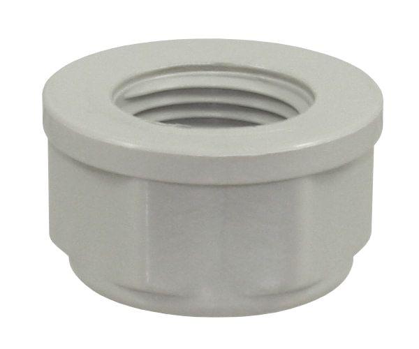 Endkappe PP, 1/2 Zoll IG, 10 bar, PP-Endkappe für Fittingrohre