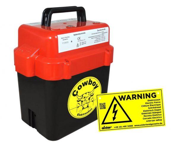 Eider Weidezaungerät BE 150, 9 Volt Batteriegerät für kleine Zaunanlagen