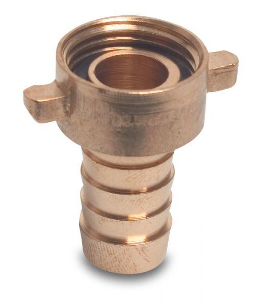 Schlauchverschraubung Messing, 3/4 Zoll IG x 20mm, flachdichtend, mit Überwurfmutter