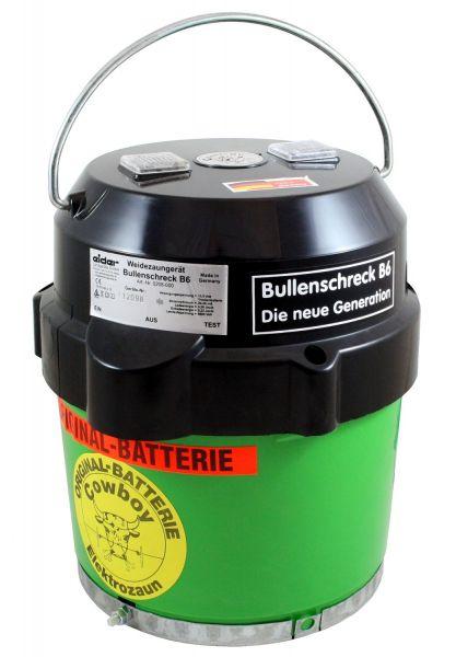 Eider Weidezaungerät Bullenschreck B6 mit 10,5V Batterie, Batteriegerät der neuesten Generation