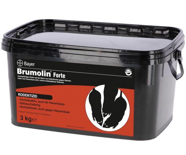 BAYER Brumolin® Forte, 3kg, auslegefertiger Mäuse- und Rattenköder, auf Haferflockenbasis