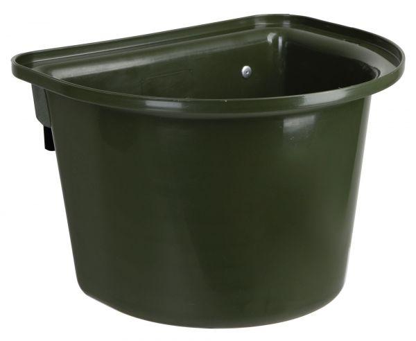 Futterkrippe 12 Liter, Grün, mit Aufhängehaken, Futtertrog für Transporter und Turniere