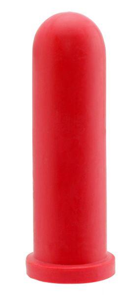 5x GEWA Kälbersauger, zylindrisch, rot, 10cm, Rundloch, Sauger für den Einsatz an Tränkeautomaten