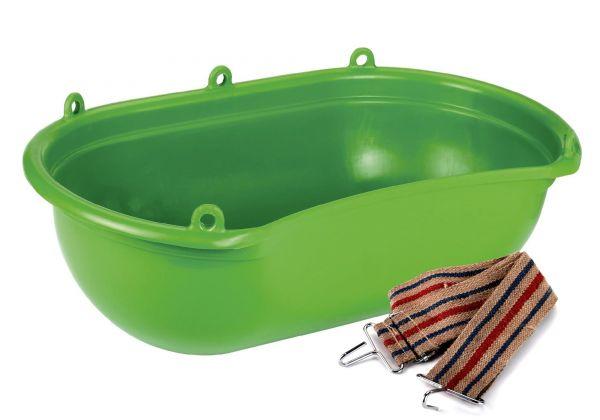 Streuwanne 20 Liter mit Tragegurt, mit Mulde, grün, 62x39cm, Sähwanne, Düngerwanne