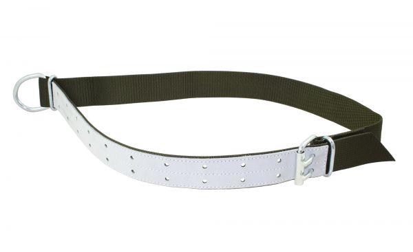 Trevira Bullenhalsband Nylon, lederverstärkt, mit Ring und Doppelrollschnalle, Halsriemen für Bullen