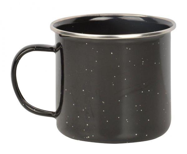 Esschert Design Outdoor-Kaffeebecher FF220, Emaille-Becher für Ausflüge, Camping, Lagerfeuer