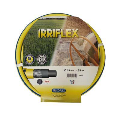 Tricoflex® Gartenschlauch IRRIFLEX 3/4 Zoll - 50m, 5-schichtiger Schlauch mit Tricotgewebeeinlage