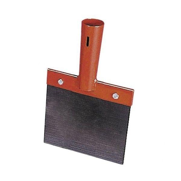 Stoßscharre 15cm, Stallkratzer mit 1mm Federstahlblech, zur Reinigung des Laufstalles, ohne Stiel