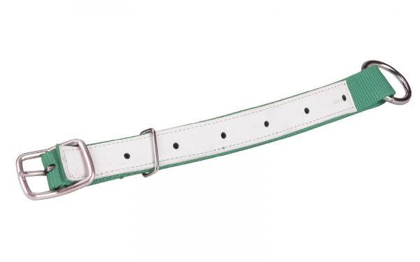 Halsriemen für Schafe und Ziegen, Grün, 60cm, verstellbares Halsband aus Nylon