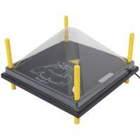 Schutzabdeckung 40x40cm, für Wärmeplatte Comfort, Kunststoff (PET), Abdeckung, Schutzhaube