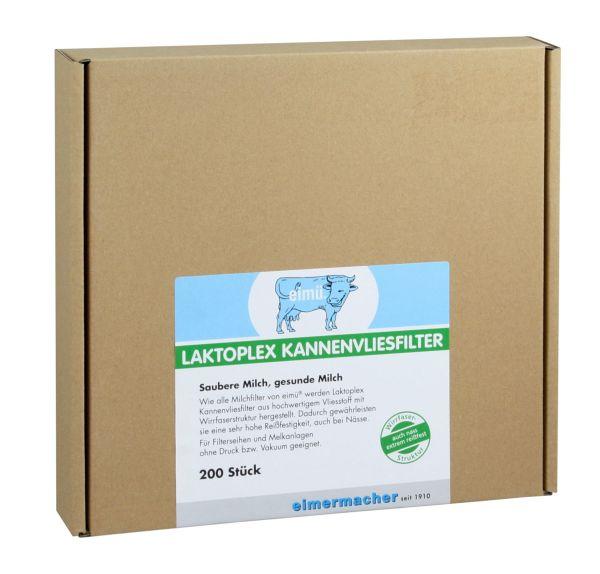 200x eimü® Laktoplex Kannenvliesfilter Ø200mm, für Filterseihen und Melkanlagen ohne Druck