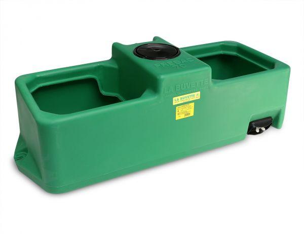 La Buvette® Tränketrog PREBAC Eckig - 70 Liter, mit Niederdruckventil bis 1 Bar