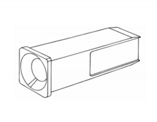 Buchse Vierkantstange für Vink Geburtshelfer Fleischvieh, Stangenkappe mit Loch, VVC02