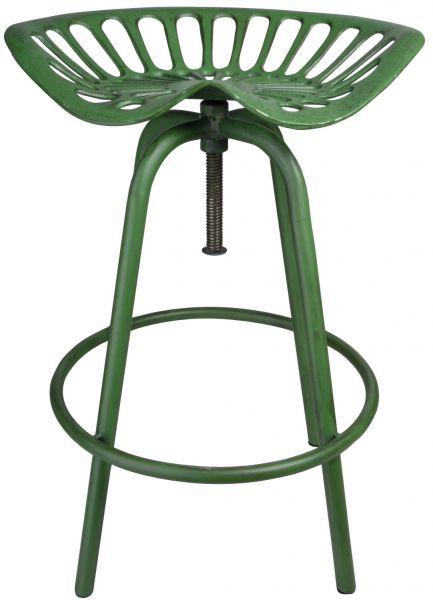 Esschert Design Traktorstuhl GRÜN IH023, Vintage-Stuhl im Traktor-Design, Barhocker