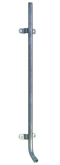 Monoflo® Edelstahlrohr 75cm, 1/2 Zoll, 30° Grad, Wasserrohr mit Haltern und Tränkeabgang