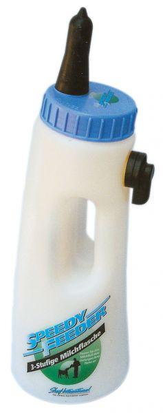 Kerbl Kälberflasche SPEEDY FEEDER, 2,5 Liter, 3-stufige Milchflasche für Kälber mit Sauger