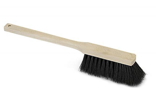 Langstiel-Handfeger Rosshaar 43cm, mit Holzgriff, Haushaltshandfeger für feinen und groben Schmutz