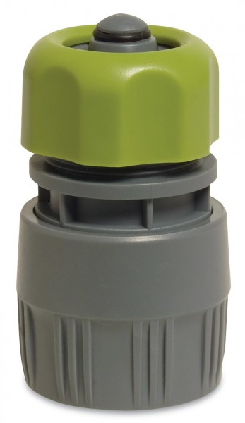 Hydro-Fit Schlauchstück PVC 1/2 Zoll, mit Wasserstop, Kupplung für Gartenschläuche