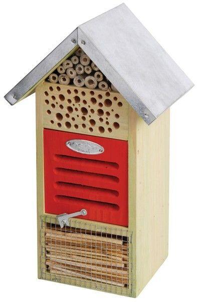 Esschert Design Insektenhotel WA12, Insektenhaus für Wildbienen, Marienkäfer und Florfliegen