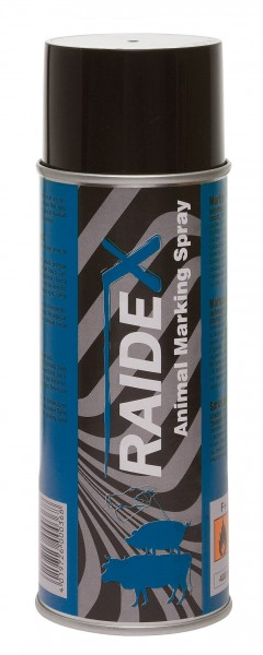 Raidex® Viehzeichenspray 200ml Blau, Markierungsspray zur Kennzeichnung von Tieren