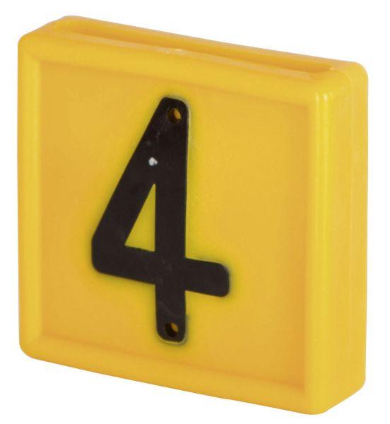 Nummernblock Standard, gelb, Block-Nummer: 4 (VIER)