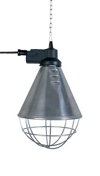 Infrarot-Aufzuchtstrahler, Wärmestrahler mit kurzem Schutzkorb bis max. 175 Watt
