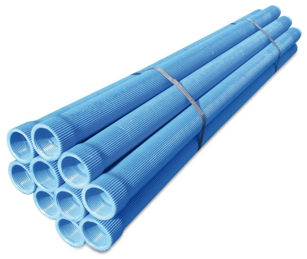 PVC Filterrohr 1 1/4 Zoll, gerippt, mit Gewinde, 1m, Brunnenfilter, Rippenfilter für den Brunnenbau