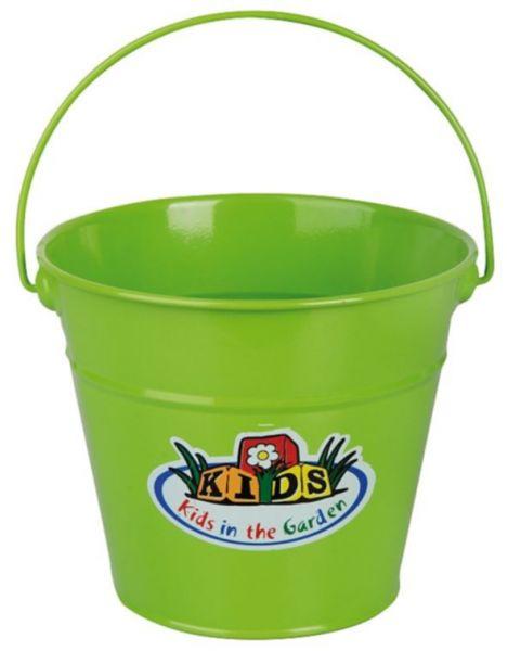 Esschert Design Kindereimer KG93, 2 Liter, grüner Blecheimer für Kinder
