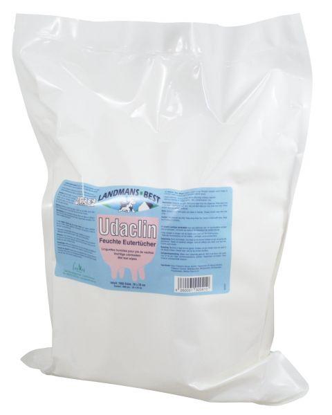 Udaclin® Feuchte Eutertücher, 1000 Blatt, Nachfüllpack, zur Euter- und Zitzenreinigung