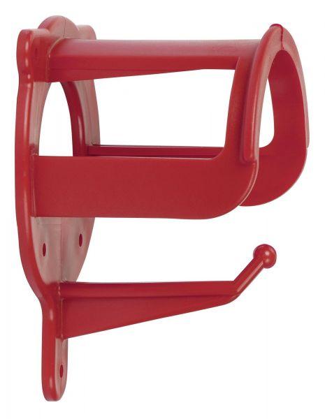 Trensenhalter aus Kunststoff, rot, Halterung für Trensen und Zubehör