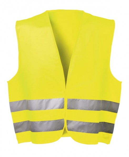 wicaTEX® Warnschutzweste gelb, Warnweste aus Polyester