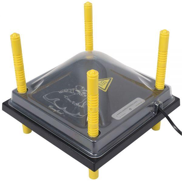 Schutzabdeckung 25x25cm für Wärmeplatte Comfort, Kunststoff (PET), Abdeckung Schutzhaube