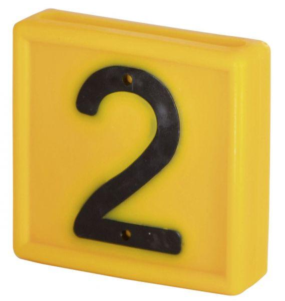 Nummernblock Standard, gelb, Block-Nummer: 2 (ZWEI)