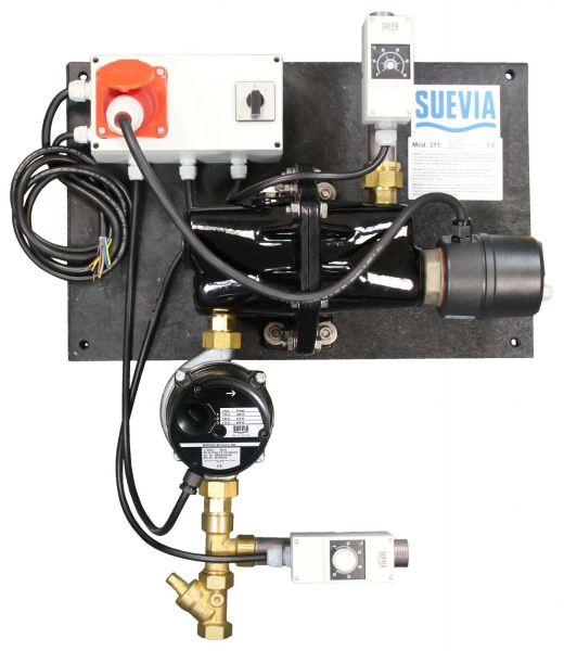 Suevia Heizgerät Mod. 311 (3000W, 400V) mit Rücklauftemperatur-Steuerung - 101.0311