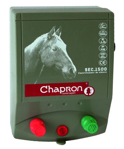 Chapron Weidezaungerät SEC 1500 E, 230 Volt Netzgerät für Pferdewiesen und Paddocks