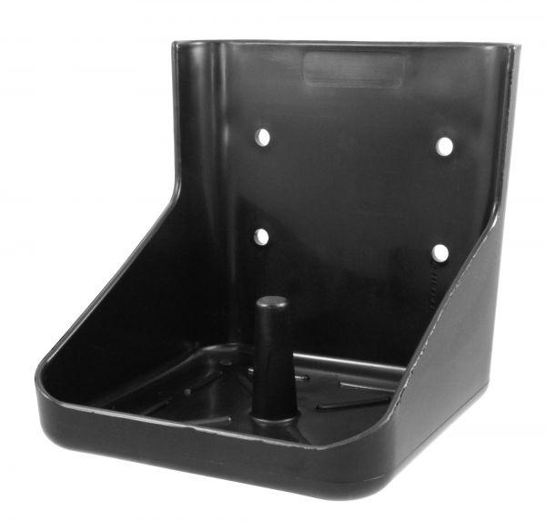 Lecksteinhalter für 10kg Lecksteine, Salzlecksteinhalter, Kunststoff, eckig, schwarz