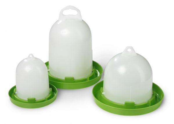 Original Stükerjürgen Bio-Stülptränke 1,5 Liter, Geflügeltränke mit Aufhängung und Bajonettverschlus