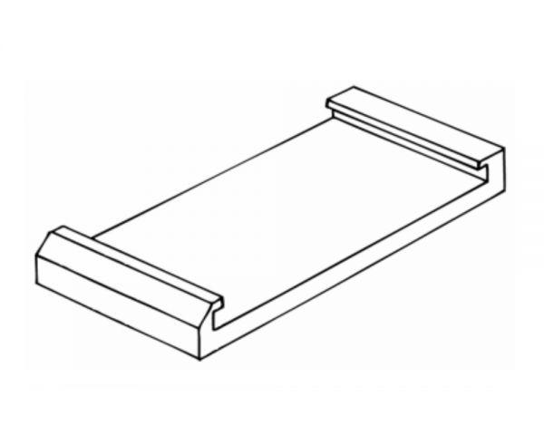 Gleitklotz Vorne, 63mm, für Vink Geburtshelfer Fleischvieh, VVC03