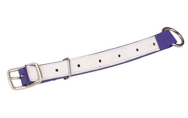 Halsriemen für Schafe und Ziegen, Blau, 60cm, verstellbares Halsband aus Nylon
