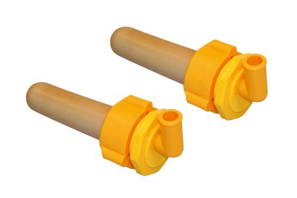 2x Kerbl Hygieneventil mit Sauger für Hygienetränkeeimer 8 Liter, grün